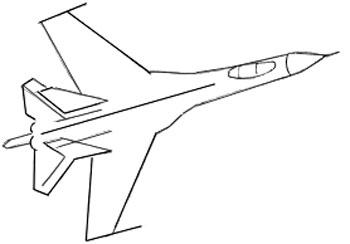 Как нарисовать самолет, шаг 3