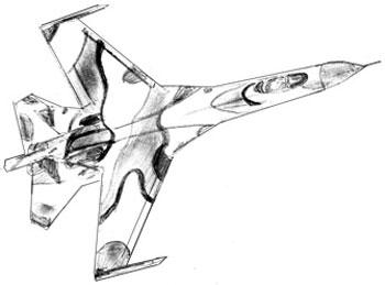 Как нарисовать самолет, шаг 6