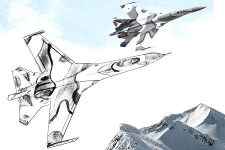 Как нарисовать самолет поэтапно