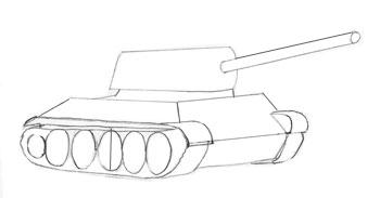 Как нарисовать танк, шаг 4