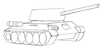 Как нарисовать танк, шаг 5