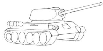 Как нарисовать танк, шаг 6