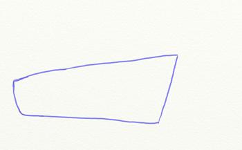 Как нарисовать парусный корабль, шаг 1