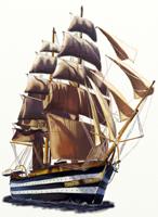 Как нарисовать парусный Корабль поэтапно