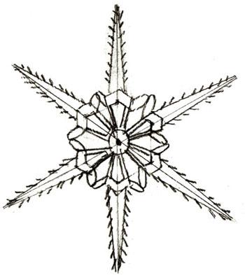 Как нарисовать снежинку, шаг 4