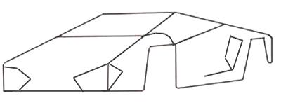 Как нарисовать спортивную машину, шаг 2