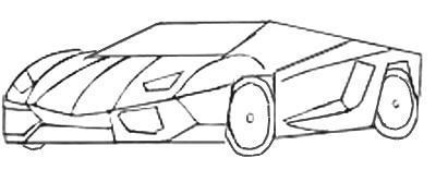как нарисовать спортивную машину поэтапно бентли
