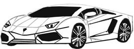 нарисовать спортивную машину