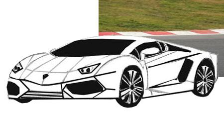 як намалювати автомобіль марки ламборджини