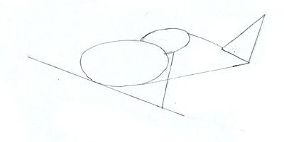 Как нарисовать военный самолет, шаг 2