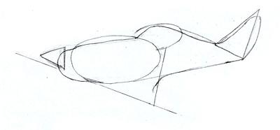 Как нарисовать военный самолет, шаг 3