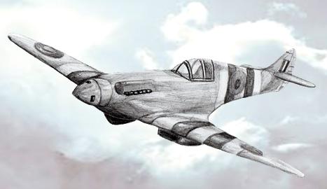 рисунок самолет война детский