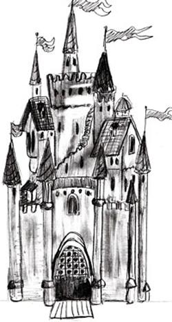 Как нарисовать замок, шаг 5