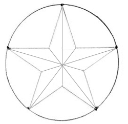 Как нарисовать звезду, шаг 4