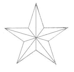 Как нарисовать звезду, шаг 5