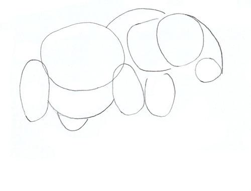 Как нарисовать слона, шаг 2