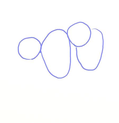 Как нарисовать обезьяну, шаг 1