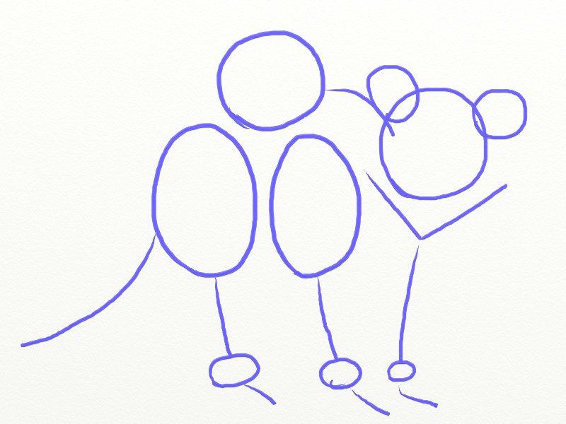 Как нарисовать Енота поэтапно, шаг 3